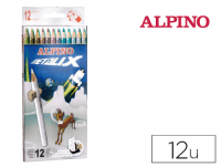 Alpino Metalix con 12 colores surtidos
