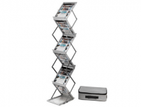 Expositor vertical plegable, 6 estantes Din A4, Archivo2000 DE36100AL