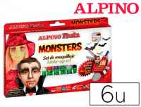 Barras de maquillaje Alpino Monsters en 6 colores surtidos