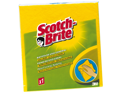 Bayeta sintética multiuso suave, 3M Scotch Brite, color amarillo