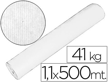 Bobina papel kraft blanco 1,10 mt x 500 mts