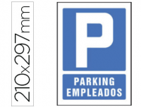 Cartel parking empleados PVC 210x297 mm
