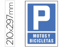 Cartel parking motos y bicicletas PVC 210x297 mm