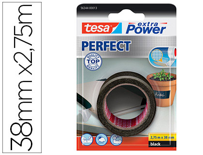 Cinta adhesiva textil Tesa Extra Power Perfect negra