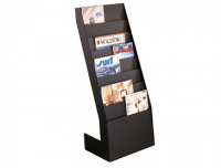 Expositor vertical Paperflow de 8 estantes en color negro