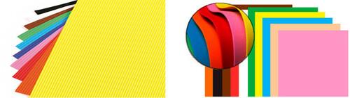 Goma EVA de colores en láminas