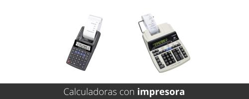Calculadoras con impresora