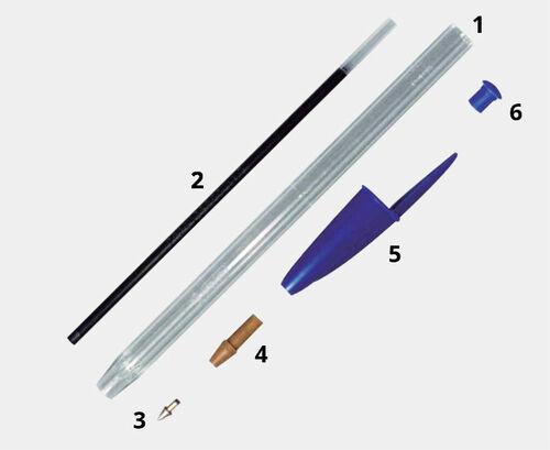 Partes del bolígrafo Bic Cristal