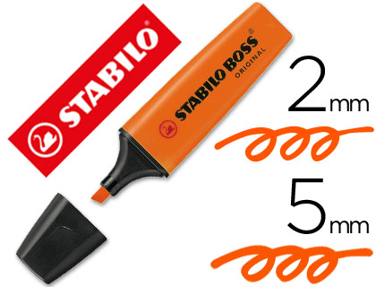 Marcador Stabilo Boss Original, color naranja