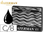 Tinta Waterman® Negra | Cartucho estándar | Color negro