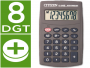 Calculadora negra de bolsillo Citizen LC-210N de ocho digitos