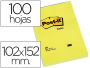 Tacos de notas adhesivas Post-It 102x152 mm