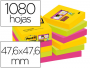 12 Tacos notas Post-It superadhesivas 47.6x47.6 mm