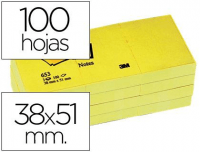 Notas de quita y pon adhesivas Post-it 38x51 mm amarillas (12 blocks)