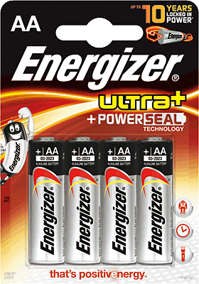 ENERGIZER Pilas alcalinas ultra plus + Pack 4 ud AA LR6