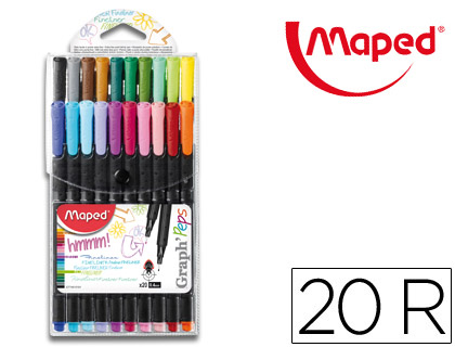Blíster 20 rotuladores Maped Graph Peps Fine Liner