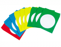 Pack 50 Sobres para CD de 5 colores surtidos