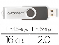 Pendrive de memoria USB 2.0 Q-Connect de 16 GB