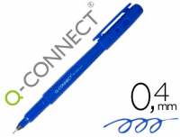 Rotulador fineliner Q-Connect con punta fina de 0.4 mm azul