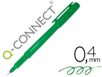 Rotulador fineliner Q-Connect con punta fina de 0.4 mm verde