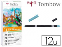 Rotuladores Tombow pastel acuarelables doble punta c/pincel