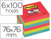 Taco Notas Post-It 76x76 Super Sticky Bora Bora, 6 tacos
