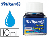Tinta china azul cobalto Pelikan, frasco 10 ml