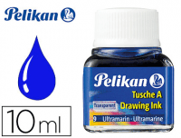 Tinta china azul ultramar Pelikan, frasco 10 ml