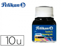 Tinta china Pelikan®, 10 frascos 10 ml colores surtidos