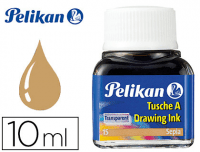 Tinta china sepia Pelikan, frasco 10 ml