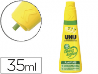 Comprar Adhesivo Universal UHU Twist and Glue, sin disolventes, bote 35 ml