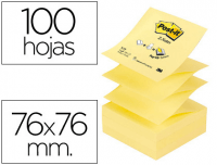 Taco Notas Post-It Z-Notes, amarillas, 76x76