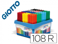 Giotto Turbomaxi School Pack, 108 rotuladores, Giotto 521800