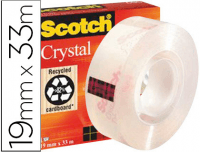 Cinta adhesiva Scotch Crystal supertransparente 33x19