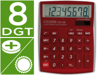Calculadora Citizen CDC-80RD 8 Digitos burdeos