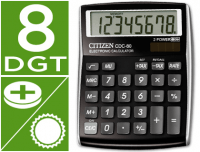 Calculadora Citizen CDC-80BK 8 Digitos negra