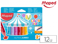 Ceras escolares Maped Color Peps Jumbo de 12 colores