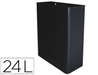 Papelera metalica de pared 24l. 460x350x150 mm negro.