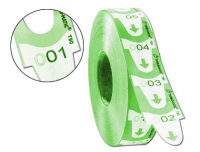 Rollo 4000 tickets de turnos Meto 31x67 mm verdes