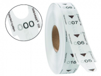 Rollo 4000 tickets de turnos Meto 31x67 mm blancos