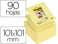 Cubo Sticky Z-Notes Post-It® Rayadas 101x101 amarillas (90h)