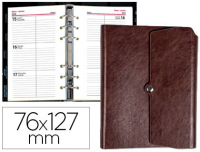 Agenda Liderpapel Tinde marrón de 76x127 mm