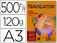 Paquete papel Din A3 120 gramos, Navigator Colour Documents, 500 hojas