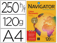 Papel Navigator Colour Documents A4 120g,  paquetes 250h